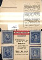 141605,Reklame Österreich Deutschlad Katalog Otto Cichini Graz Briefmarkenhandlung - Werbepostkarten