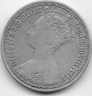 Grande Bretagne - Florin - 2 Schillings - 1879 - Argent - 1816-1901 : Frappes XIX° S.