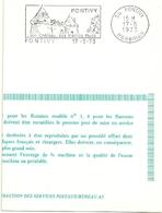 MORBIHAN  - Dépt N° 56 = PONTIVY 1973 = Flamme PREMIER  JOUR =  SECAP Illustrée D'un CHATEAU ' VIEILLES RUES' - Postmark Collection (Covers)