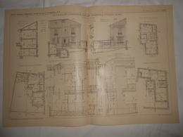 Plan D'une Petite Maison D'habitation, Rue Des Pincevins à Puteaux Dans La Seine. M. Coutelet, Architecte. 1903. - Public Works