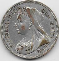 Grande Bretagne - Half Crown - 1899 - Argent - 1816-1901 : Frappes XIX° S.