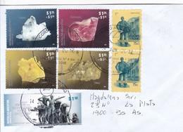 SOBRE ENVELOPE. CIRC LA PLATA 2012. OBLIT VILLA DOMINICO. STAMPS PIEDRAS SEMIPRECIOSAS.-RARE-BLEUP - Mineralen