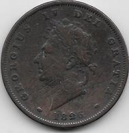 Grande Bretagne - Penny - 1826 - 1816-1901 : Frappes XIX° S.