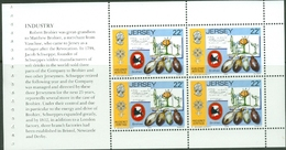 Jersey 1985: Robert Brohier Schweppes Mi 364 Booklet-pane ** MNH - START AT FACE VALUE (£0.88) Départ À LA FACIALE - Drinks