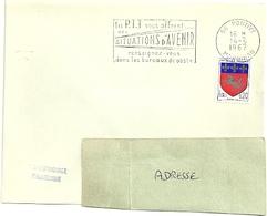 MORBIHAN - Dépt N° 56 = PONTIVY 1967 = FLAMME Codée = SECAP Multiple ' PTT Vous OFFRENT SITUATIONS' - Marcophilie (Lettres)