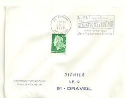 MORBIHAN  - Dépt N° 56 = PONTIVY 1970 = FLAMME SUPERBE à DROITE = SECAP Multiple ' PTT Vous OFFRENT SITUATIONS AVENIR ' - Postmark Collection (Covers)