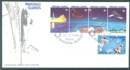 MARSHALL - 23.12.1988 - FDC - SPATIAL - Mi 199-203 Yv 212-215 PA16 - Lot 16792 - Marshall