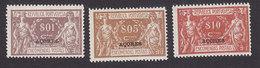 Azores, Scott #Q1, Q3-Q4, Mint Hinged, Parcel Post Overprinted, Issued 1921 - Azores
