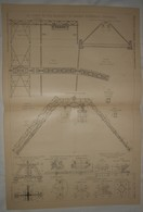 Plan Du Chemin De Fer Suspendu De Barmen Elberfeld Vohwinkel. 1903. - Public Works