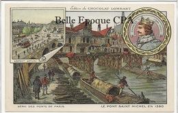 75 - PARIS - Série Des Ponts - 1390 / Pont Saint-Michel +++ Édition Du Chocolat LOMBARD / 9x14cm +++ Parfait état - Bridges