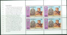 Jersey 1985: Church St.Helier & BIG BEN Mi 360-1 Booklet-pane ** MNH - START AT FACE VALUE (£0.80) Départ À LA FACIALE - Churches & Cathedrals