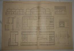 Plan Du Dépôt Du Matériel De Transport, écuries Et Ateliers à Levallois Perret. Seine. M. G. Jacotin, Architecte. 1903. - Public Works