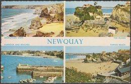 Multiview, Newquay, Cornwall, 1962 - Photo Precision Postcard - Newquay