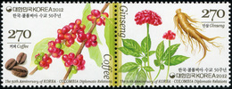Korea South. 2012. The 50th Anniversary Of Korea-Colombia Diplomatic Relations (MNH OG **) Block Of 2 Stamps - Corée Du Sud