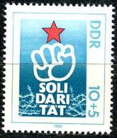 DDR - Mi 2548 - ** Postfrisch (D) - 10+5Pf     Solidarität 80 - [6] République Démocratique