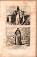 Angleterre - Chef Des Druides - Druidesse (50 Av. J.C.) - Estampes & Gravures