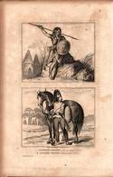 Angleterre - Guerrier Breton - Cavalier Breton (50 Av. J.C.) - Prints & Engravings
