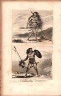 Angleterre - Geuerrière Et Guerrier Pictes - Prints & Engravings