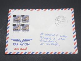 GHANA - Enveloppe Pour L 'Allemagne En 1990 , Affranchissement Timbres Surchargés - L 17307 - Ghana (1957-...)