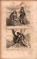 Angleterre - Geuerrière Et Guerrier Scots - Prints & Engravings