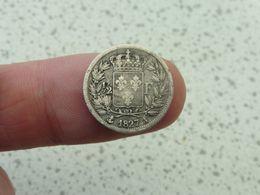 1/2 FRANC 1827 A  ( 50 Centimes Un Demi Argent ) - France