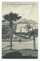 Monaco Postcard Menton. Casino And Public Garden. Nd.phot. Postede 1910 Stamp Removed - Other