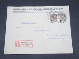 DANEMARK - Enveloppe Commerciale ( Illustrée Au Verso ) En Recommandé Pour Berlin En 1923 - L 17315 - 1913-47 (Christian X)