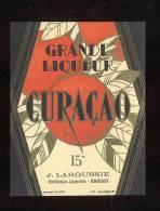 Etiquette  De  Curaçao  - J. Laroussie  à  Bordeaux (33) - Labels