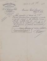 39 641 LAFERTE Par SAINT LAURENT DU JURA 1903 Fromages  Gruyere L. A. PICHON ET FILS Fromagerie A CHALON SUR SAONE - France
