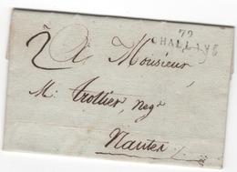 MP  79  CHALLANS Du 28 Thermidor An 11 ( 15.08.1803) ( Indice 10 = 60 € ) - 1801-1848: Precursores XIX