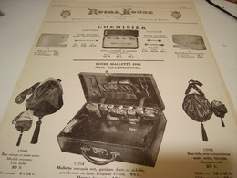ANCIENNE PUBLICITE CHEMISIER  DE ROYAL HOUSE 1912 - Habits & Linge D'époque