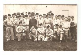 Carte Photo Militaria Maroc KENITRA Camp Albert Groupe De Soldats En Tenue 1930 - Caserme