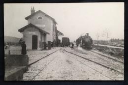 Gare De Charquemont Animée Avec Train Vapeur (voir Description!) - Other Municipalities