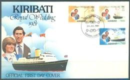 KIRIBATI - 29.7.1981 - FDC - ROYAL WEDDING  - Mi 371 373 375 Yv 50 52 54 - Lot 16796 - Kiribati (1979-...)