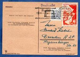 RDA  -- Entier Postal  -  Timbre Allemand Et Français - DDR