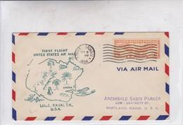 FIRST FLIGHT-UNITED STATES AIR MAIL LIHCE ,KAUAI, TH 1934.-BLEUP - Air Mail