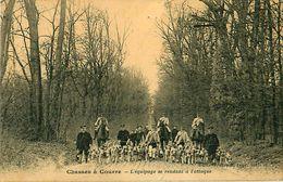 Cpa Chasses à Courre - L' équipage Se Rendant à L'attaque - Ed Royer, Forêt D' Ermenonville - Chasse