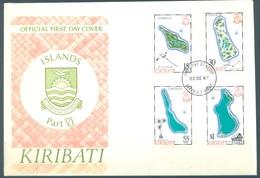 KIRIBATI - 22.9.1987 - FDC -  ISLANDS - Mi 489-492 Yv 168-171 - Lot 16797 - Kiribati (1979-...)