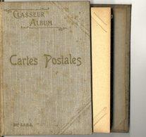 PETIT ALBUM  CARTES POSTALES ANCIENNES  DEPLIANT 102 CARTES - Matériel