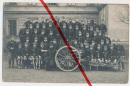 Original Foto - Pilsen Plzen - 1913 - K.u.k. Soldaten Mit Kanone - Cannon Canon - Scharfe Detailreiche Aufnahme - Tchéquie