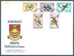 KIRIBATI - 28.07.1983 - FDC -  BIRDS OVERPRINTED OKGS - Mi 16-20 Yv 16-20 - Lot 16798 - Kiribati (1979-...)