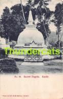 CPA CEYLON SRI LANKA SACRED DAGOBA KANDY - Sri Lanka (Ceylon)