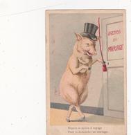 CPA Animal Humanisé Position Humaine Cochon Porc Pig Agence Matrimoniale Illustrateur - Pigs