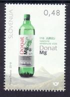 2029 Slowenien Slovenia Slovenie 2018 Mi.No. 1312 ** MNH Bottle Donat Mg Natural Mineral Water Wasser - Getränke