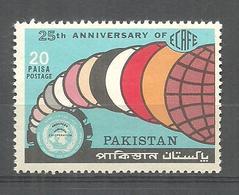 PAKISTAN 1972 STAMP 25TH ANNIVERSARY OF ECAFE MNH - Pakistan