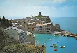 Cartolina Vernazza Panorama Parziale Del Porto Dall'alto 1983 - La Spezia