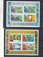 éléphants - Oiseaux - Diaments - Danse - Mobutu - Chutes D'eaux - Félins - Zaïre - COB BF 30A / B ** - Valeur 25 € - Zaïre