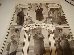 ANCIENNE PUBLICITE CREATION PAQUIN BERTHOLLE VOYAGE - SPORT 1913 - Chocolate