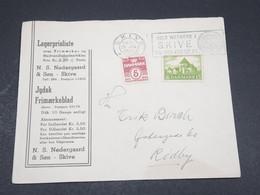 DANEMARK - Enveloppe De Skive En 1945 Pour Rodby , Affranchissement Plaisant - L 17332 - 1913-47 (Christian X)