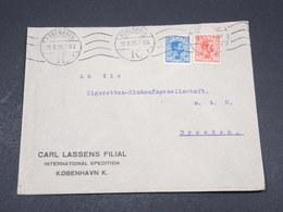 DANEMARK - Enveloppe Commerciale De Copenhague Pour Dresden En 1920, Affranchissement Plaisant - L 17333 - 1913-47 (Christian X)